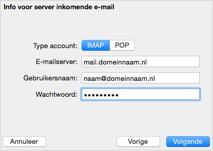 inkomende-mailserver
